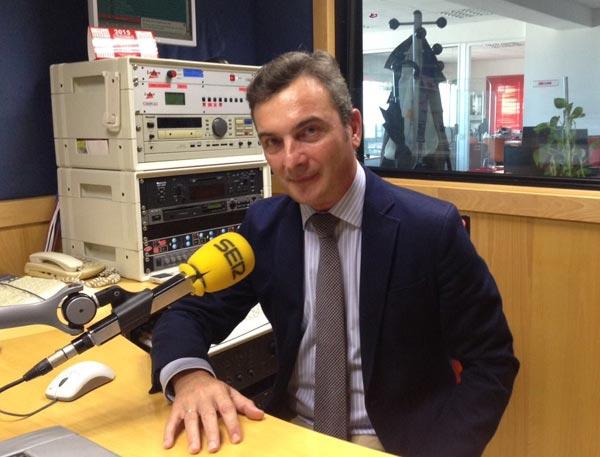 Eduardo González Mazo en una entrevista en Radio Cádiz-Cadena SER. /Foto: Radio Cádiz