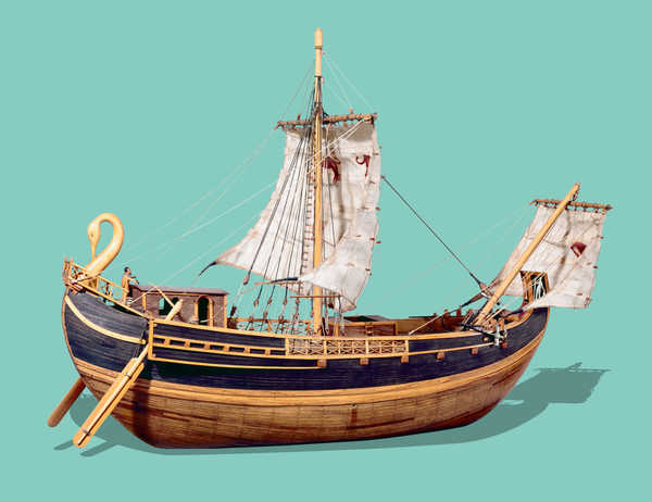 Modelo de barco mercante Romano.