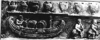 Halado de pequeña nave de carga romana.