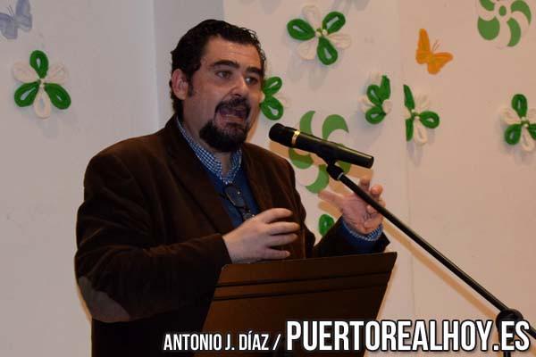 Manuel J. Parodi, en una conferencia de Puerto Real