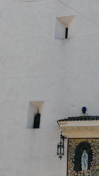 Detalle de las saeteras de la torre. / Foto: Manuel J. Parodi