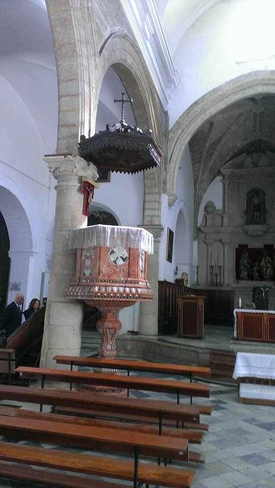 Púlpito de la Iglesia de San Sebastián.