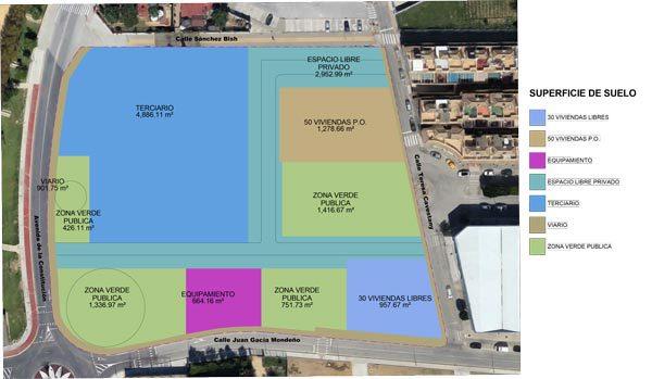 Plano del Proyecto María Auxiliadora en Puerto Real.