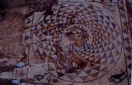 Mosaico de Baco en Puerto Real.