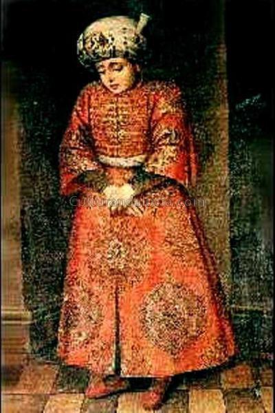 Boabdil. Óleo atribuido a Fernando del Rincón. Siglo XV. Colección Marqués de Villasegura.