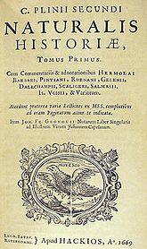 Historia Natural de Plinio