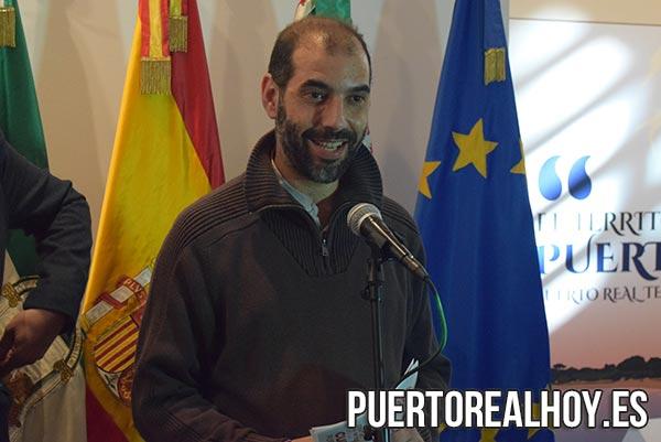 Antonio Romero, Alcalde de Puert o Real, durante la presentación del Centro de Interpretación de la Cultura.