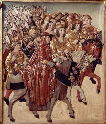 Reyes Católicos en el Retablo Mayor de la Catedral de Granada.