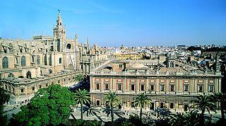 Archivo de Indias junto a la Catedral, en Sevilla.