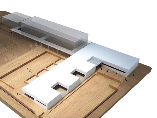 Plano 3D del futuro Colegio de Casines