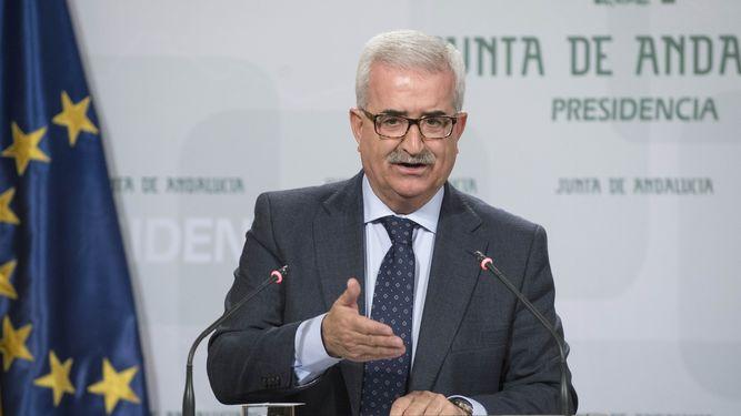 Manuel Jiménez Barrios, en rueda de prensa