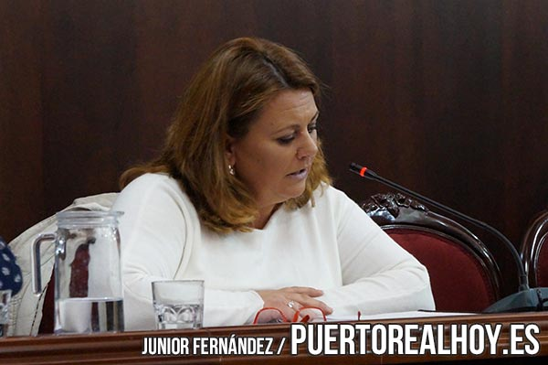 Elena Amaya exponiendo su propuesta en Pleno