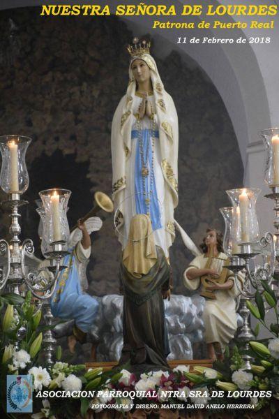Cartel de las Festividades de la Virgen de Lourdes.