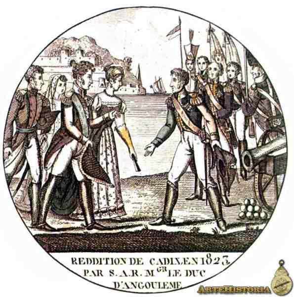 Cádiz se rinde ante los Cien Mil Hijos de San Luis.