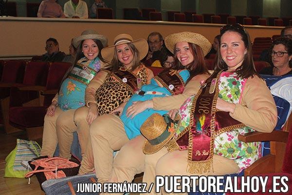 La Reina y Damas de la Feria de Puerto Real 2017.