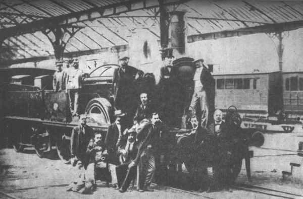 Impulsores de la línea férrea, Barcelona-Mataró.