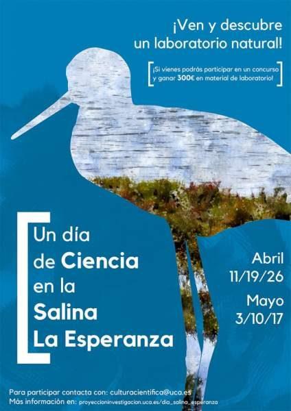 """Actividades para la salina """"La Esperanza"""" en Puerto Real."""