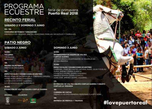 Programa ecuestre de la Feria de Puerto Real 2018.