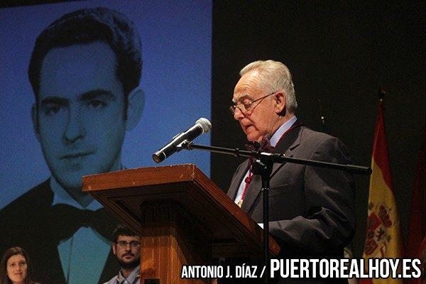 Juan Antonio Salcini, en su discurso.