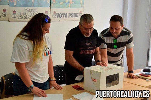 Miembros de la mesa de primarias del PSOE.