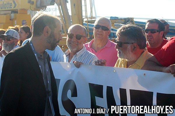 Antonio Romero, Alcalde de Puerto Real, con Antonio Noria.