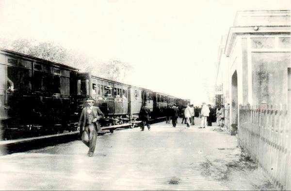 "Tren que llegaba hasta Matagorda. (Foto: Museo ""El Dique"")."