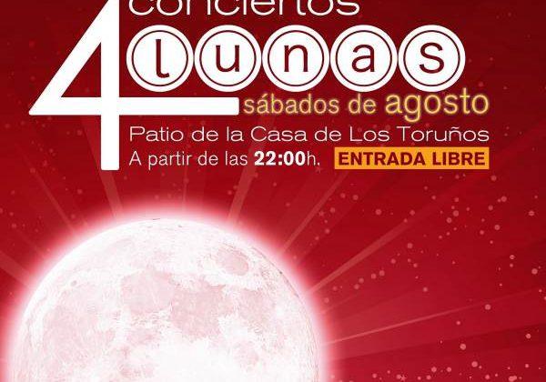 Cartel del Concierto 4 Lunas en Los Toruños.