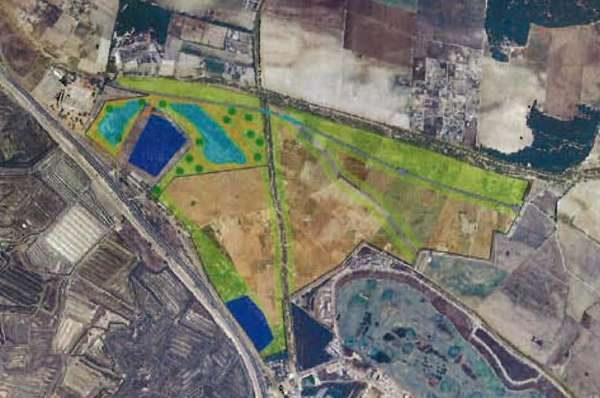 Plano donde se desarrollará el proyecto junto a VillaNueva Golf.
