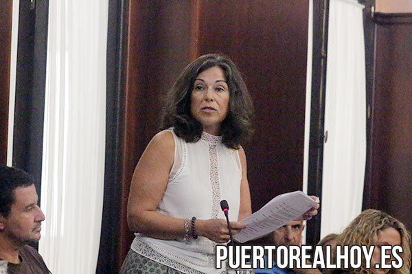 Maribel Peinado durante su discurso de despedida.