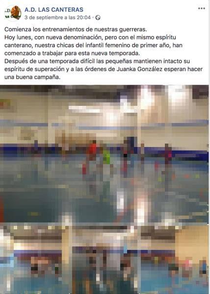 Post de AD Las Canteras anunciando su cambio de denominación.