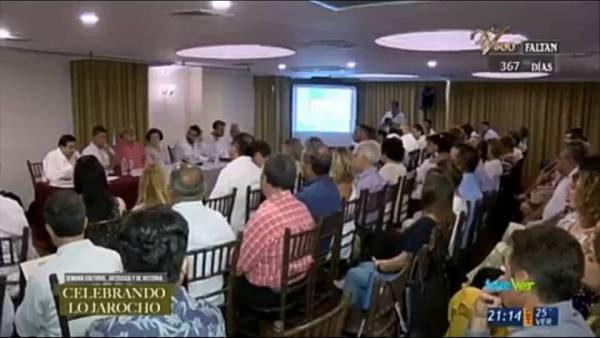 Manuel J. Parodi en una conferencia en Vera Cruz, México.