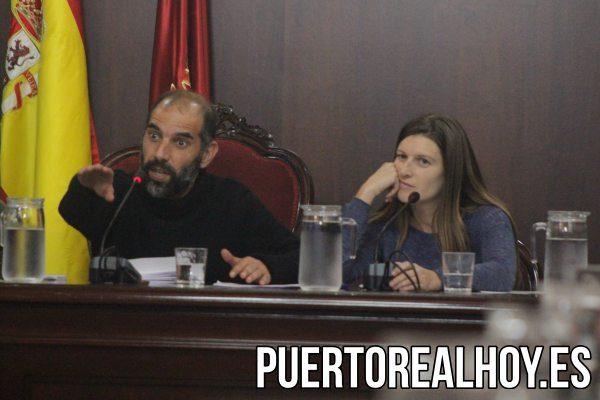 Antonio Romero, Alcalde de Puerto Real, y Mayte Sánchez, 1ª Teniente de Alcalde.
