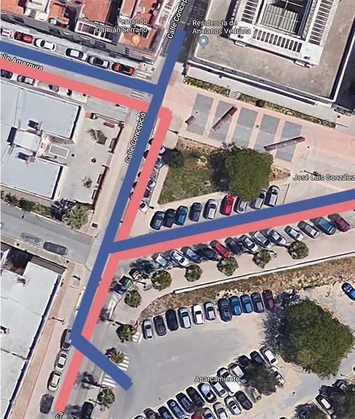 Cambios de la Calle Concepción tras la actuación del Plan Invierte.