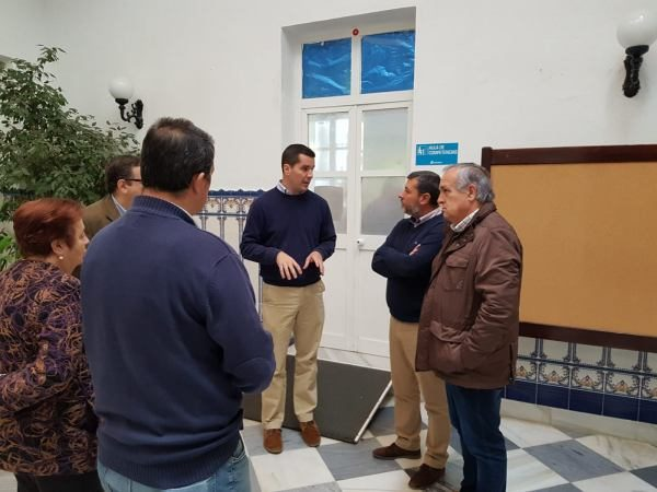 Alfonso Candón y Vicente Fernández en la Fundación Asprodeme.