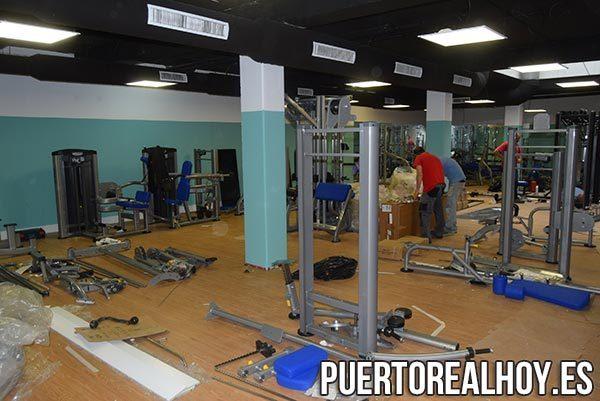 Sala de Musculación del Complejo Municipal de Piscinas.