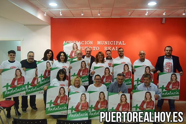 El PSOE de Puerto Real mostrando su apoyo a Susana Díaz.