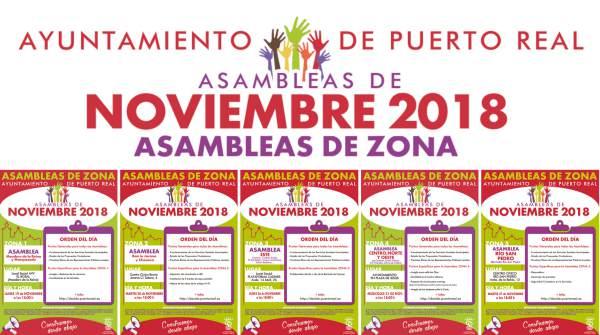 Asambleas del Mes de Noviembre en Puerto Real.